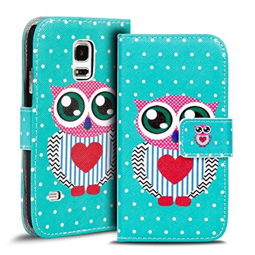 Verco Handyhülle Galaxy S5 Mini Muster, Motiv Hülle für Samsung Galaxy S5 Mini Book Case Flip Cover - Design 20