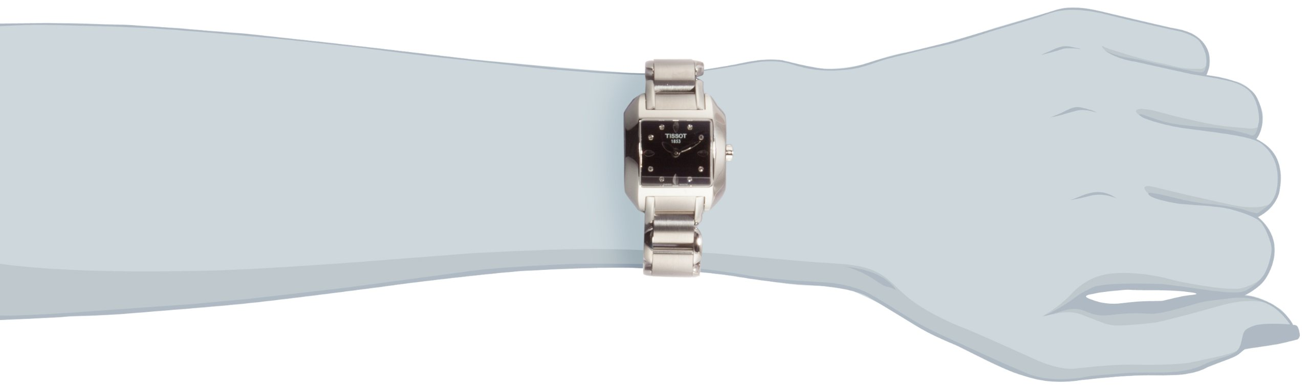 Tissot T-Wave T02128554 – Reloj de Mujer de Cuarzo, Correa de Acero Inoxidable Color Gris