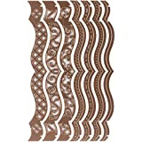 Spellbinders A2 Braket Borders One - Plantillas de cenefas (1-13,3-0,5 x 15,2 cm, 7 unidades)