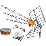 Antena TDT LTE 4G (C21-60) 15dB BKM15 de Tecatel: Amazon.es ...