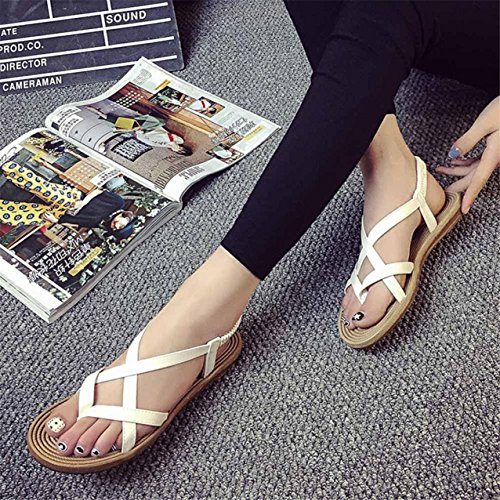 LHWY Damen Verband Bohemia leisure Lady Sandalen Peep-Toe Outdoor Schuhe White