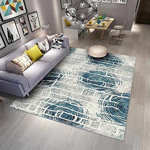 handgefertigte Teppiche geschnitzte Teppiche Einfache moderne Wohnzimmer Couchtisch Schlafzimmer Teppich Full Bed Bettwäsche Nordic Geometrische abstrakte Plaid Rug (Color : A) (Bettwäsche Plaid)