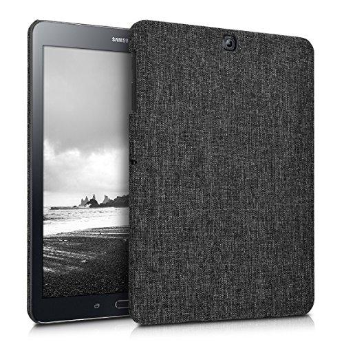 kwmobile Hardcase Stoff Hülle für Samsung Galaxy Tab S2 9.7 - Cover Case in Stoff Design Dunkelgrau