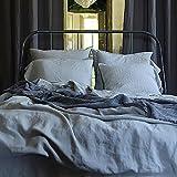 LinenMe, Stonewashed-Bettdeckenbezug aus 100 % Leinen in Taupe, 260 x 220 cm 0452404