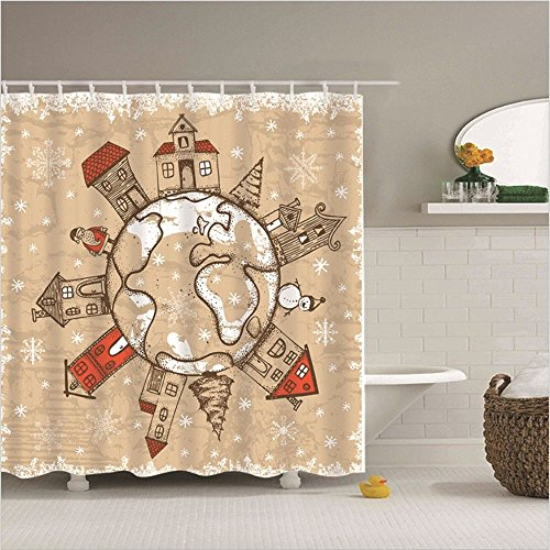 JYJSYM Polyester duschvorhang, Wasserdicht und плесени Bad duschvorhang, duschvorhang, 180x180cm Bad, duschvorhang, Bad Vorhang, Bad Vorhang,b,180x180cm
