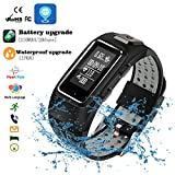 Fitness-Armband Smart Sport Armband Herzfrequenz- und Blutdrucküberwachung Wasserdichtes Armband Super langer Standby 20 Tage Sport-Armbänder (Grau)