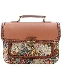 8738b5c78db02 JUND Blumenmuster Vintage Kuriertaschen Fashion Druck Handtaschen Elegant  Frau Umhängetasche Lässig Messenger Bag