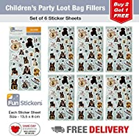 Fun Stickers Everyday B ** 15 Designs to Choose From ** Each Pack Contains 6 Sheets - Puppies and Dogs CDU B 18-24