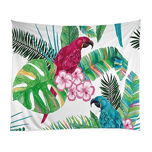 etopfashion Kaktus Stickerei natur Them Décor Zimmer Wohnzimmer Schlafsaal Wall Hanging (Blätter Weed Voller)