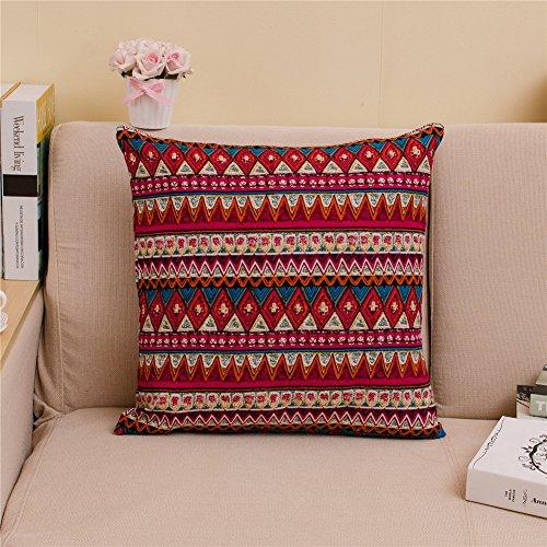 qearly estilo étnico, 45cm x 45cm almohada cojín Huelle Cushion Cover