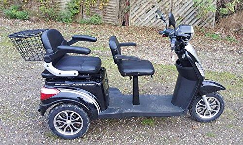 "1000W ElektroMobil – ZWEISITZER Modell:""David_2″ bis 10-15-25km/h ElektroScooter Senioren Mobility Vehicle Dreirad ElektroRoller Sonder Modell 2018! (Braun)"