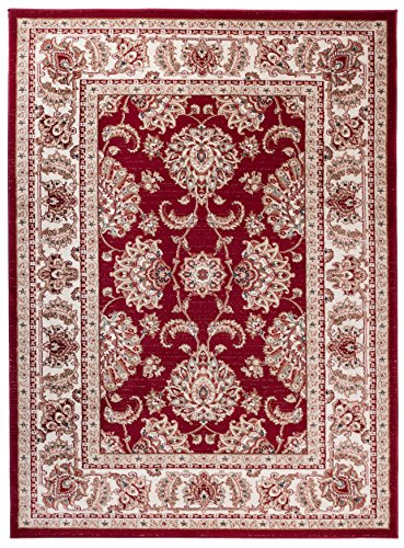 Carpeto Orientteppich Teppich Rot 200 x 300 cm Ornamente Muster Ayla Kollektion