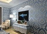 MEILI Selbstklebende Vliestapete 3D geprägte Wohnzimmer Schlafzimmer TV Hintergrund Wand kommt mit Kleber Tapete, 1