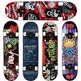 FunTomia® - Skateboard con cuscinetti Mach1® - legno d'acero a...