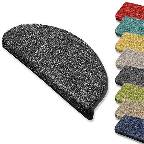 Hochflor-Stufenmatte Bali   Halbrund oder eckig   12 Farben Stufenmatten Produziert in Deutschland (halbrund, anthrazit)