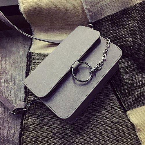 Weibliche Schulter kuriertasche rundes paket Scheuern kleine quadratische tasche Grau