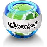 Powerball Lightning Blue, gyroscopische handtrainer met blauw lichteffect, transparant blauw, het origineel van Kernpower