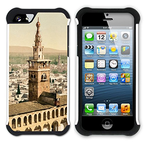 Graphic4You Chambord Castle France Postkarte Ansichtskarte Design Hart + Weiche Kratzfeste Hülle Case Schale Tasche Schutzhülle für Apple iPhone SE / 5 / 5S Design #6