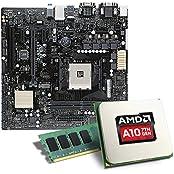 AMD A10-9700 / ASUS A320M-C / 8GB Mainboard Bundle | CSL PC Aufrüstkit | AMD A10-9700 APU 4x 3500 MHz, 8GB RAM, Radeon R7, GigLAN, 7.1 Sound | Aufrüstset | PC Tuning Kit