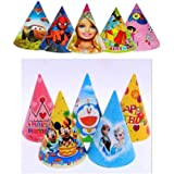 Kala Decorators Different Cartoon Characters Special Cap for BOY/Girl / Set of 10/for Birthday, Party Supplies (Multicolor, P
