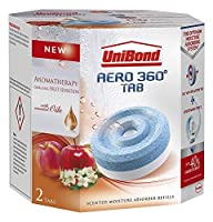 UniBond Aero 360 Moisture Absorber Energising Fruit Sensation Refill Tabs - Pack of 4 by Unibond