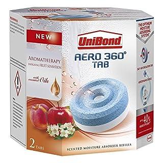UniBond Aero 360 Moisture Absorber Energising Fruit Sensation Refill Tabs - Pack of 4