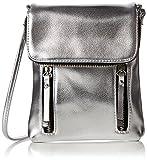 New Look Womens Metalic Utility Cross-Body Bag Silver (Silver)