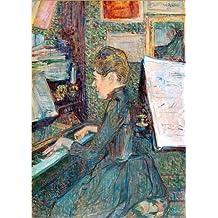 Póster 30 x 40 cm: Mlle Dihau at piano de Henri de Toulouse-Lautrec / akg-images - impresión artística de alta calidad, nuevo póster artístico