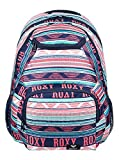 Roxy Shadow Swell Mochila Mediana, Mujer, Verde/Blanco (Bright White AX Boheme Border), 24 l