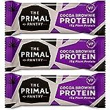The Primal Pantry High Protein Bar - mit 15g Hanfprotein je Riegel (Schoko Brownie 3er Pack)