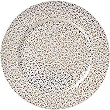 BRANDANI 54599 Filo DOro - Juego de platos (4 unidades), multicolor