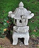 Grande 4Pezzi Stile Giapponese Pagoda da giardino statua/ornamento