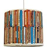 anna wand Lampenschirm BOOKS – Schirm für Lampe mit Bücher-Motiv – Sanftes Licht für Tischleuchte/Stehlampe/Hängelampe im Wohnzimmer, Esszimmer, Schlafzimmer