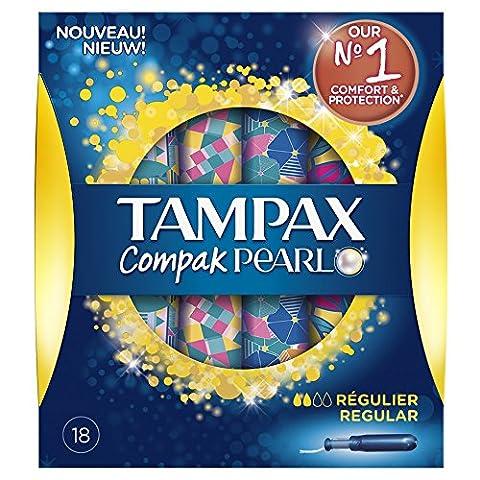 Tampax Compak Pearl - Tampons avec Applicateur en Plastique x 18 - Régulier - Lot de 3