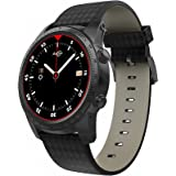 Smartwatch Android, AllCall W1 3G Smart Watch Phone Handy Uhr 2 GB+16GB ROM mit Bluetooth GPS Anrufbenachrichtigung Schrittzähler Fitness Tracker Metall Körper, SIM Karte Slot