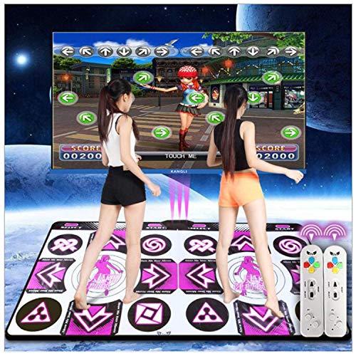 Drahtlose Double Dance Pad, Schaum Spiel Pad Verdickung Schalldichte Weiche Dance Pad Erwachsene/Kinder Hd TV Computer Dual-Use (lila)