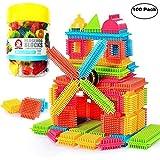 NEEDOON 100pcs Bristle Blocks Building Set Educational Stacking Jouets de Bain pour...