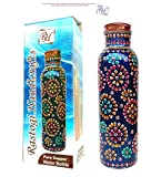 Rastogi Pure Copper Water Bottle for Ayu...