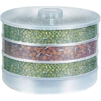 JD BRAND Sprout Maker | Plastic Sprout Maker Box | Hygienic Sprout Maker with 4 Container | Organic Home Making Fresh Sprouts Beans for Living Healthy Life Sprout Maker 4 Bowl