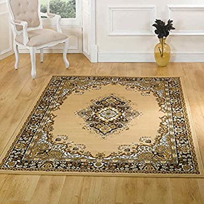 Flair Rugs Element Lancaster Traditional Rug, Beige, 220 x 320 Cm