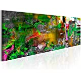 Cuadro en Lienzo 135x45 cm - 3 tres colores a elegir - Impresion en calidad fotografica - Cuadro en lienzo - 1 Partes - abstracto - como pintado f-A-0453-b-d 135x45 cm B&D XXL