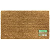 JVL Manor Plain Natural Coir Latex Backed Door Mat, Plastic/Vinyl, Random Color, 40 x 70 cm