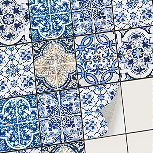 creatisto Mosaik-Fliesen Fliesensticker Fliesenfolie - Aufkleber Sticker für Wandfliesen | Stickerfliesen - Mosaikfliesen für Küche, Bad, WC Bordüre (15x20 cm | 12 -Teilig)