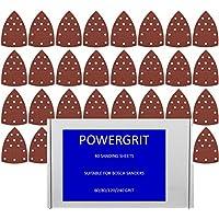 40hojas de lija compatibles con Bosch PSM 160A/PSM 80/Prio
