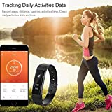 Heart Rate Fitness TrackerCAMTOA ID115 Activity TrackerBluetooth40Smart Wristband BraceletSport SmartwatchPedometer 086OLEDIP67Waterproof CalorieSleepStepHeart Rate TrackingCall NotificationFacebookTw