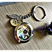 Pet Loss Memorial Jewelry - Memory Locket Keychain for Dog or Cat Hair Urn or Photo Pet death sympathy keepsake gift
