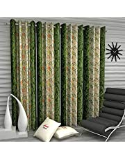 Home Sizzler 4 Piece Eyelet Polyester Long Door Curtain Set - 9ft
