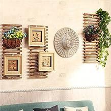 Estilo rústico de pared colgante estantería vitrina unidad Chic Vintage escalera ganchos plantas trepadoras