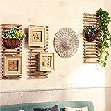 Rustikaler Stil Wand Hängeregal Display, Waschbeckenunterschrank Chic Vintage Leiter Haken Kletterpflanzen