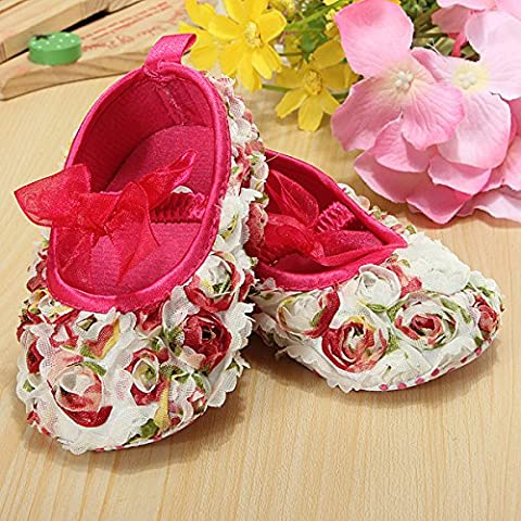 Bluelover Chaussures de fille Infant Toddler dentelle fleur Rose Bow